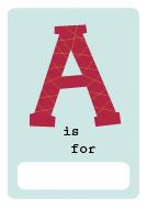 alphabet book a