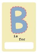 alphabet book b