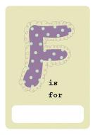 alphabet book f