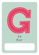 alfabeto livro g