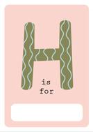 alfabeto livro h