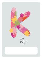 alphabet book k