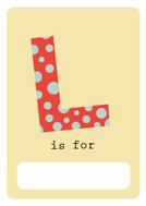 alfabeto livro l