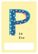 alphabet book p