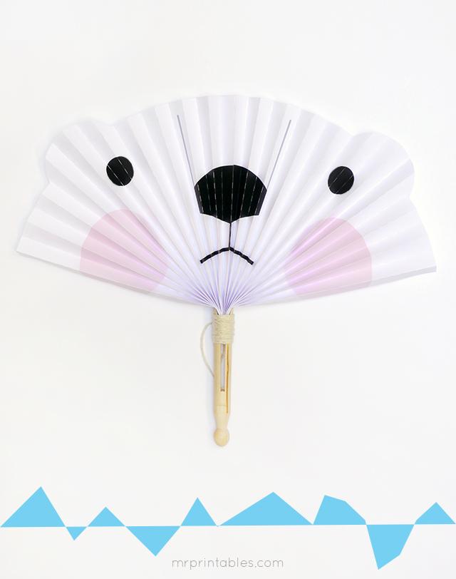 arctic animals diy paper fans mr printables. Black Bedroom Furniture Sets. Home Design Ideas