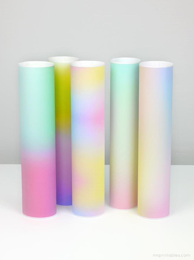 printable gradient papers
