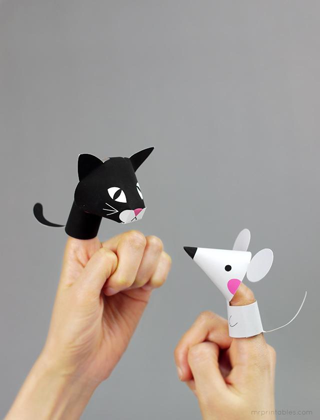 Ферма животных Finger Куклы - Г-н печатные
