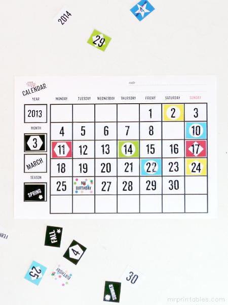 Printable Blank Calendars - Mr Printables