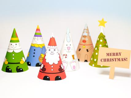 Santa & Co Paper Dolls | Mr Printables