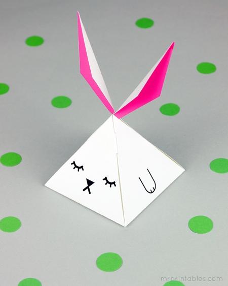 Pyramid Bunny Favor Box Mr Printables