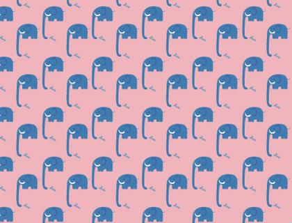 free printable scrapbook paper elephant