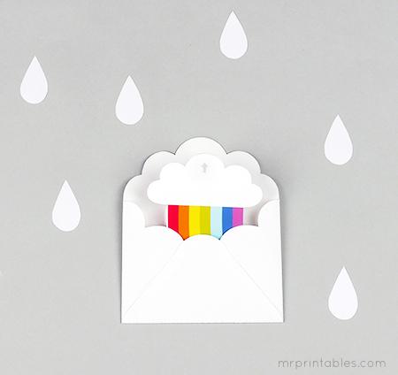 Surprise Rainbow Party Invitation