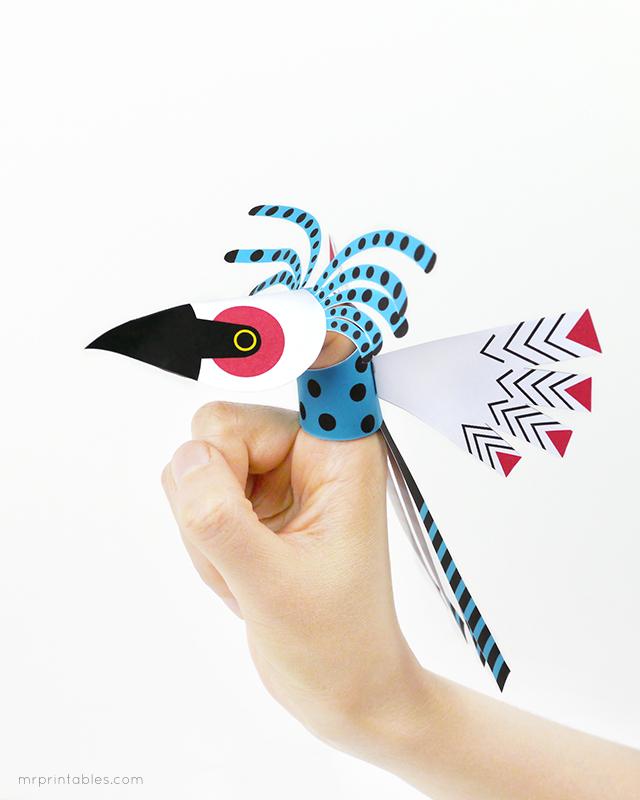 Bird Finger Puppets