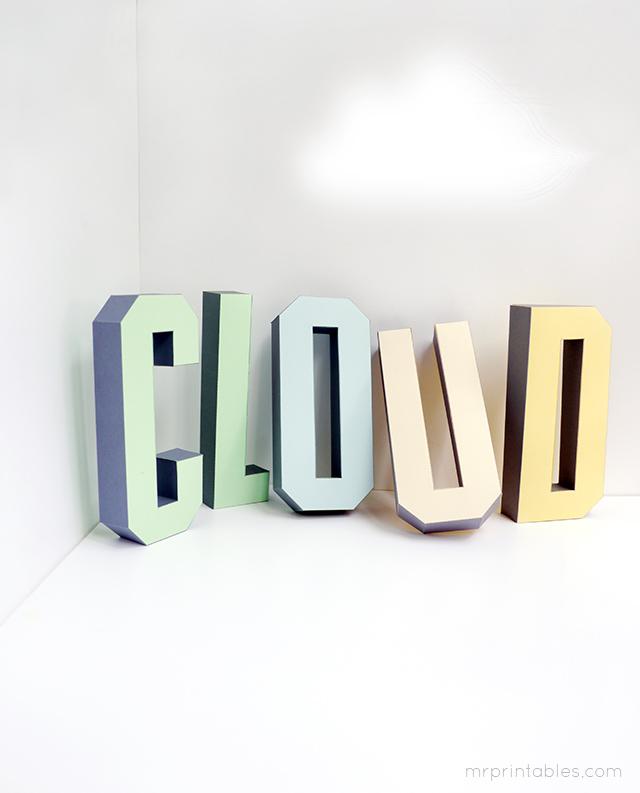 3d letter templates 28 images 3d cardboard letter number