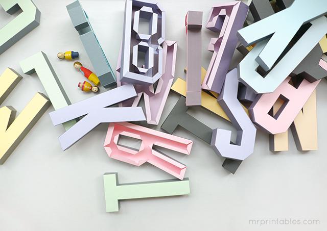 3D Alphabet Templates - Mr Printables