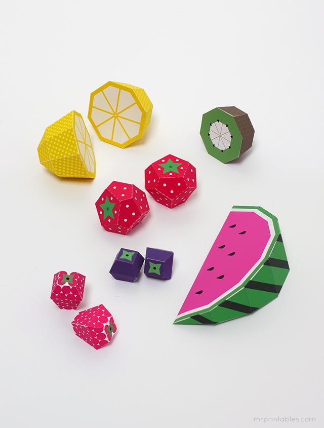 Play Fruit Templates